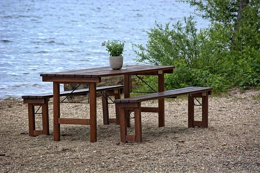 Seat, Bench, Bank, Table, Nature, Out, Rest, Click