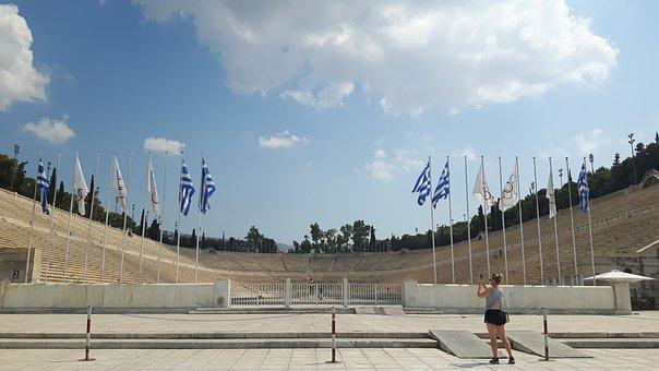 Panathinaiko, Athens, Greece, Building, Greek