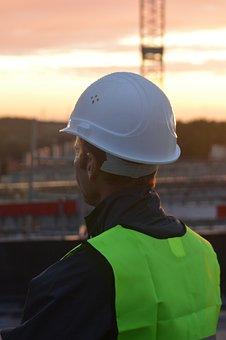Construction Worker, Man, People, Job, Helmet