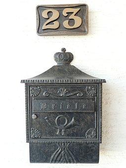 Mailbox, House Number, Post, Blacksmithing, Metal