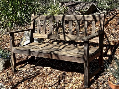 Seat, Bench, Outdoors, Wooden, Garden, Private