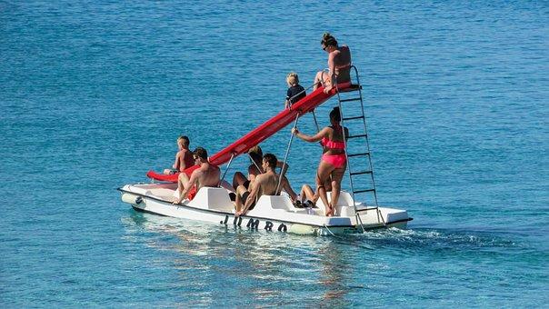 Cyprus, Protaras, Sea Bike, Family, Tourism, Recreation