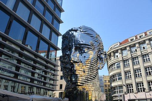 Sculpture, Monument, Franz Kafka, Prague