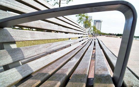 Bank, Beach, Wooden Bench, Sun, Bench, Sit, Outdoor
