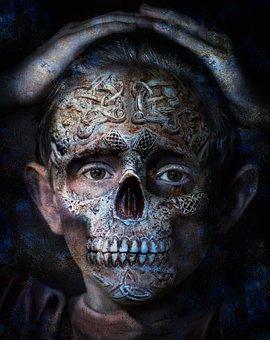 Skull, Photo Manipulation, Bone, Cranium, Frightening