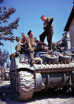 Panzer, Soldiers, War, Sherman, Vaucelles, War Machine