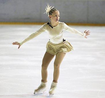 Figure Skater, Ice Skater, Ice, Elegant, Sports, Sport