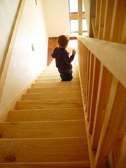 Stair Climb, Child, Learn To Walk, Small Child, Stairs