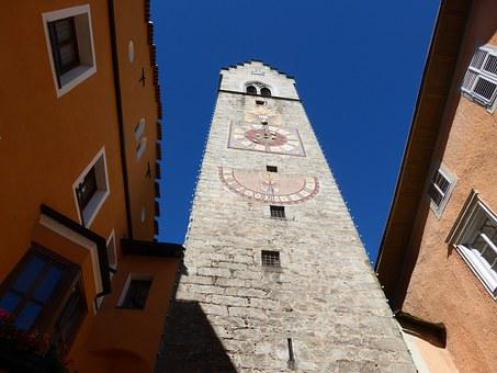 Sterzing, South Tyrol, Clock Tower, Building, Old Town