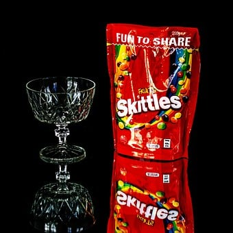 Skittles, Sweets, Lollies, Glass, Confectionery, Candy