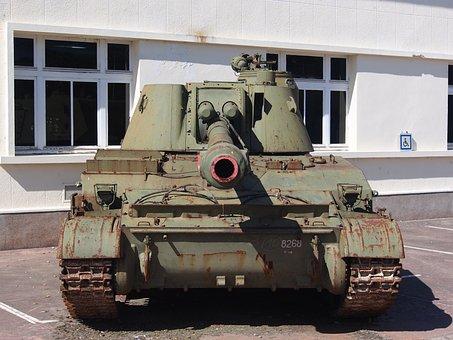 Akatsiya, Tank, Weapon, Armor, Military, Vehicle