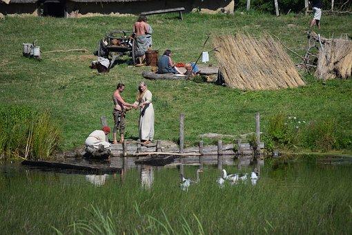 Village, Viking Museum, Vikings, Denmark, Viking Life