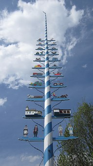 Maypole, 1, May, Tradition, Need Old, Village Life