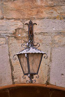 Lamp, Lantern, Light, Arch, Goal, Wall, Castle, Ruin
