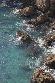 Marine, Wave, Kennedy, Rocky, Water, Blue, Beach