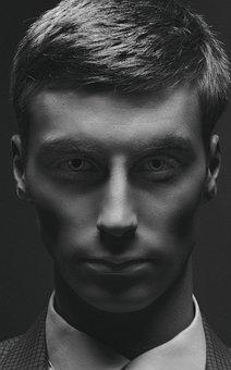 Portrait, Boy, Studio, Black And White, Artistic, Retro
