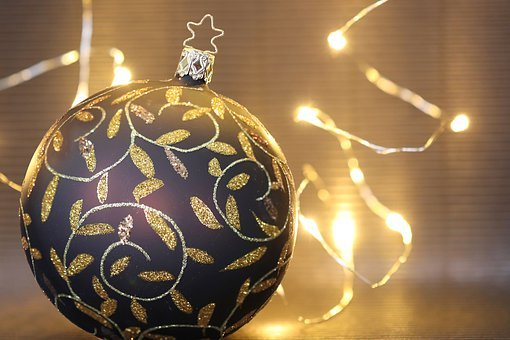 Christmas, Christmas Ornament, Golden, Decoration