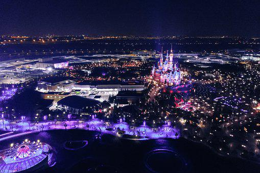 Night, Disney, Disneyland, Lights, Castle, Fun