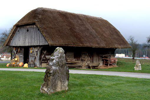 Old House, Thatched Roof, History, Slovenia