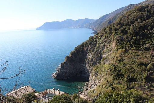 Sea, Mountain, Ocean, Water, Mountains, Blue, Landscape