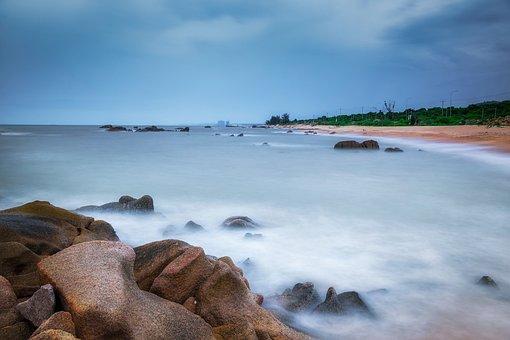 Beach, Landscape, Rock, Coast, Sea, Water, Ocean, Sky