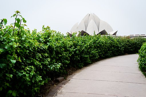 Lotus Temple, India, Heritage, Temple, Tourism