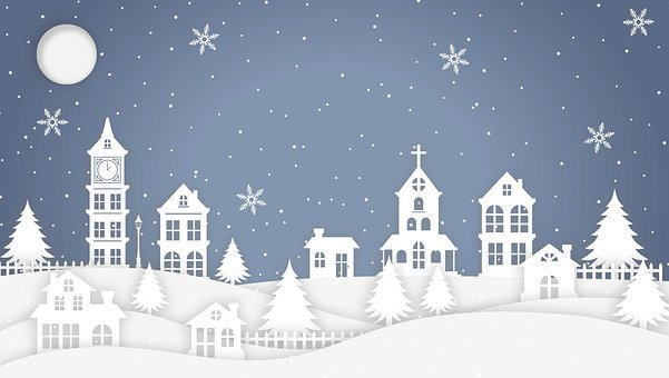 Christmas, Church, Jesus, Christ, Nativity, Town