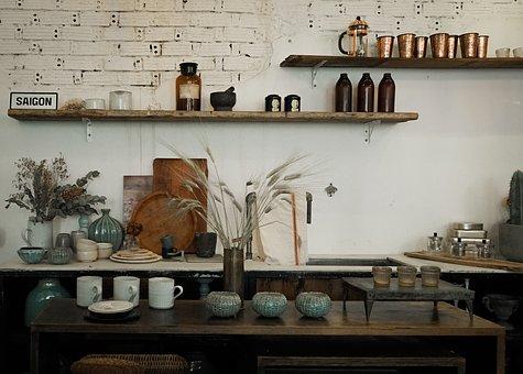 Interior Design, Vintage, Retro, Decoration, Old