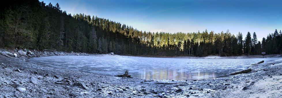 Glasswaldsee, Panorama, Schwarzwald, Lake, Ice, Show