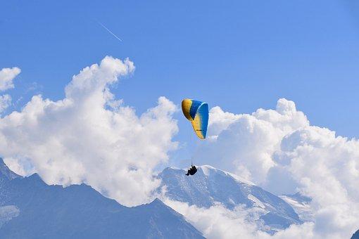 Paragliding, Paraglider, Panoramic Views