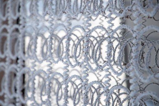 Springs, Pattern, Frost, Snow, Mattress Springs, Frame