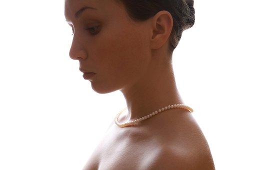 Woman, Wearing, Female, Pearls, Pearl, Jewelry