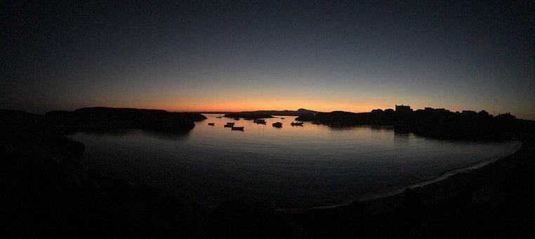 Beach, Sea, Dusk, Sky, Sunset, Water, Ocean, Coast
