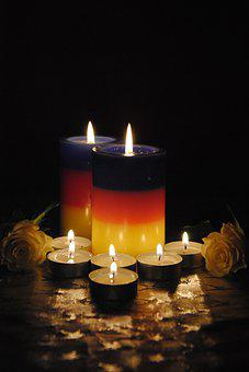 Candles, Night, Light, Season, Christmas, Pray