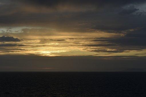 Sundown, Sundowner, Sky, Sunset, Sea, Relax, Family