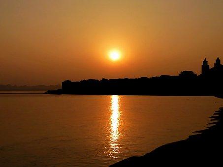Sunset, Sicily, Sea, Landscape, Nature, Water, Evening