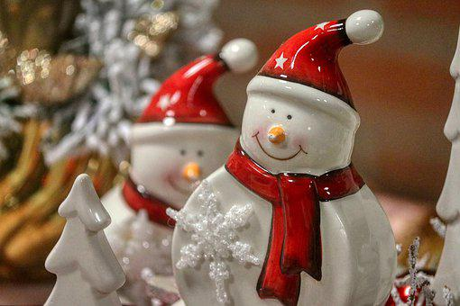 Snowman, Deco, Cap, Decoration, Christmas