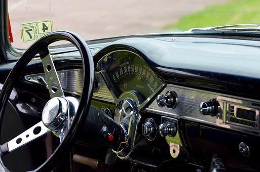 Chevrolet, Steering Wheel, Dashboard, Classic, Car