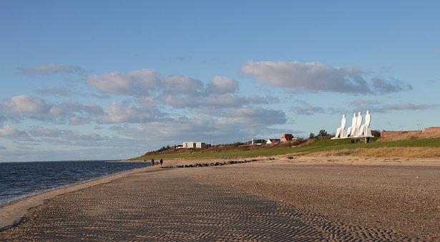 Beach, Esbjerg, Landscape, Coastal, Sky, Sand