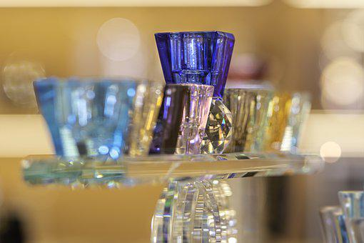 Candle Holder, Contemporary, Craft, Glass, Transparent