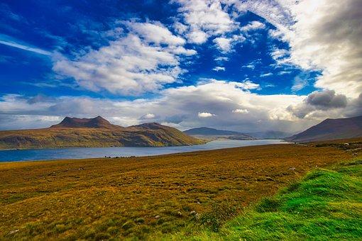 Scotland, Little Loch Broom, Sea, Landscape, Horizon