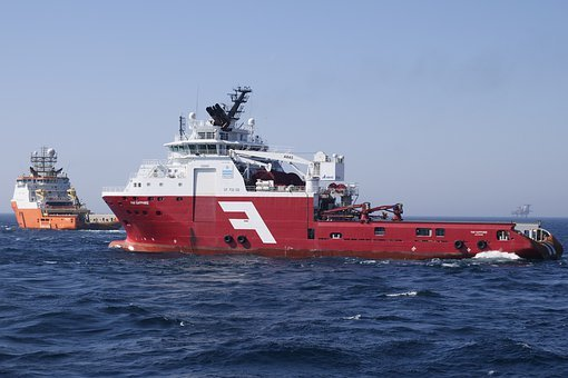 Shipping, Supply Ship, Tug, Tow, Ship, Oil Industry