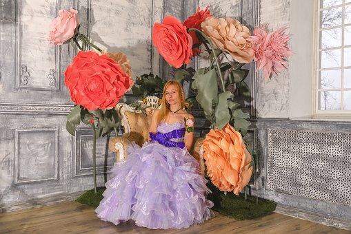 Princess, Queen, Tinsel, Rhinestones, Luxury, Party