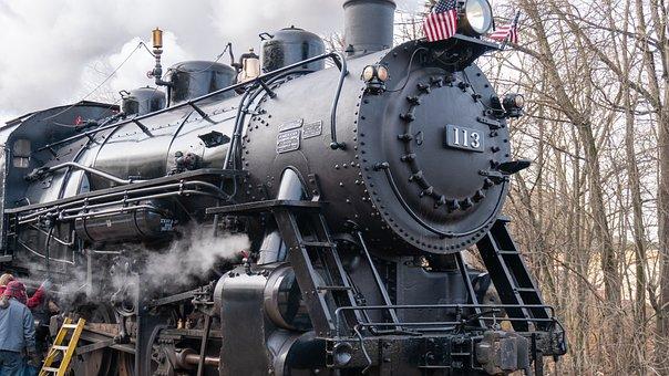 Black Train, Train, Steam Train, Black, Transportation