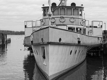 Steamer, Ship, Old, Nostalgia, Antique, Dock, Classic