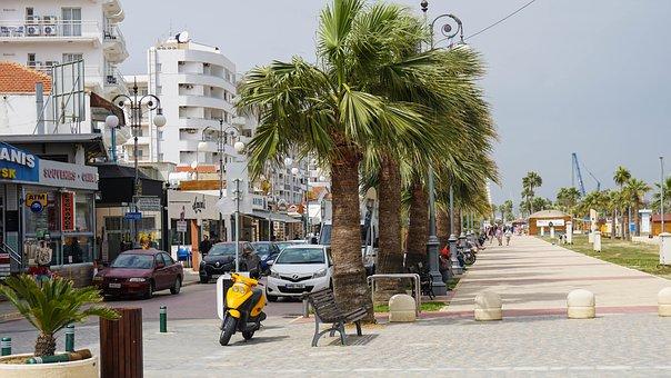 Cyprus, Street, City, Urban, Landscape, Building