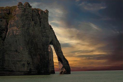 Cliff, Sea, Sky, Coast, Nature, Landscape, Rock