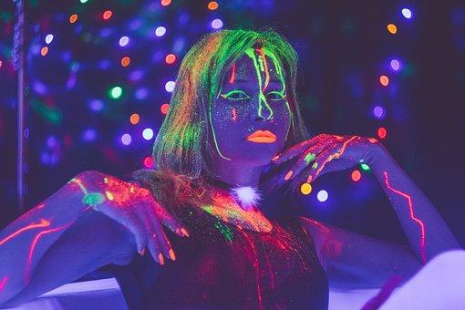 Glow In The Dark Paint In The Dark, Neon, Neon Light