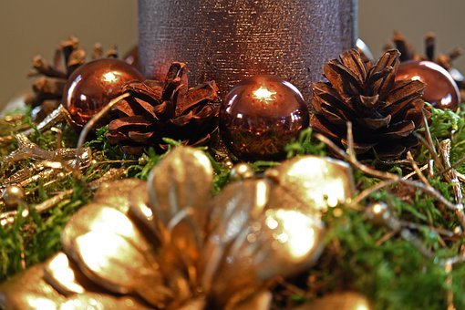 Christmas, Gold, Decoration, Golden, Christmas Time