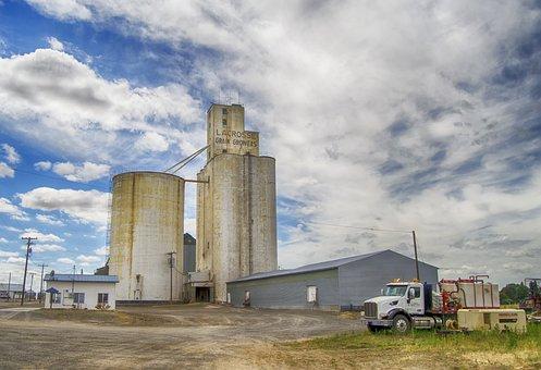 Agriculture, Usa, Grain Elevator, Rural, Farming